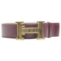Hermès Burgundy 32mm Reversible H Logo Kit 867917 Belt