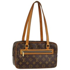 Louis Vuitton Monogram Cite Mm 867852 Brown Coated Canvas Shoulder Bag