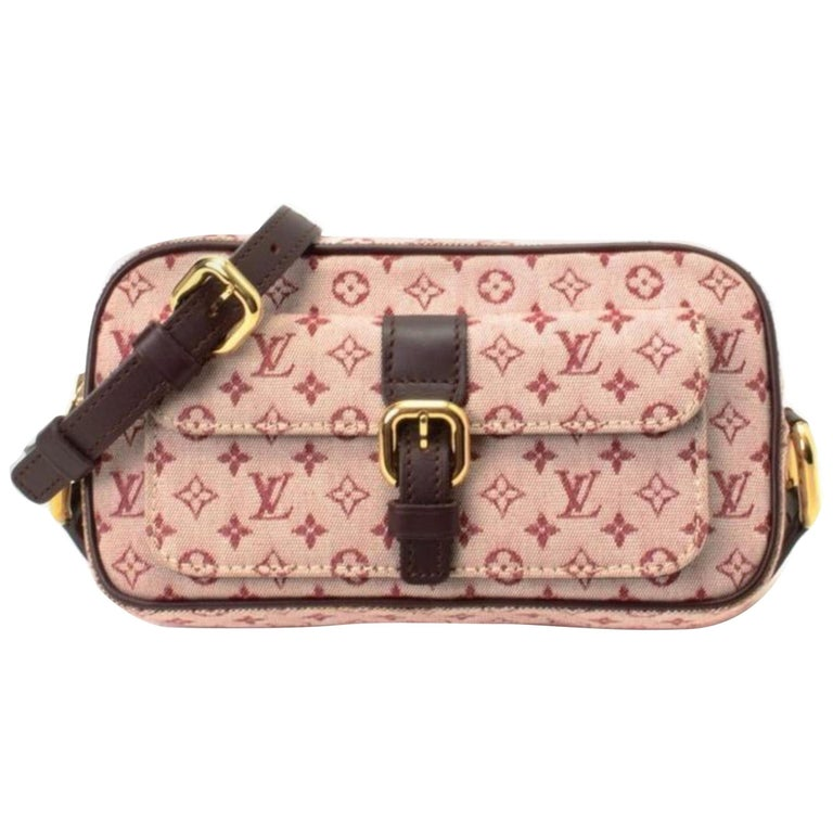 1bed1f7fc4eb Louis Vuitton Juliette Monogram Mini Lin 867771 Burgundy Canvas Cross Body  Bag For Sale