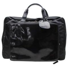 Gucci Rare Suitcase 867675 Black Canvas Weekend/Travel Bag