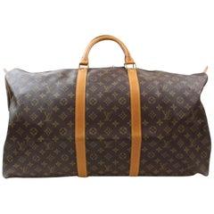 Louis Vuitton Keepall Duffle Monogram 60 869085 Brown Canvas Weekend/Travel Bag