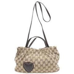 Gucci Hysteria Baguette 2way 867461 Brown Canvas Cross Body Bag