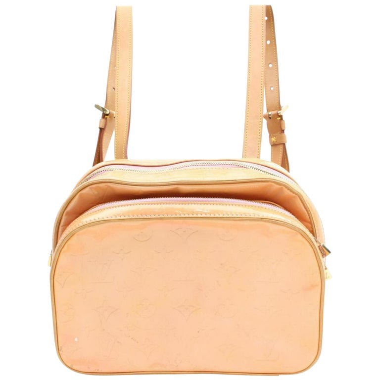 d19a6979bd9e Louis Vuitton Murray Monogram Vernis Salmon 868125 Pink Patent Leather  Backpack For Sale