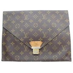Louis Vuitton Porte Monogram Envelope 869670 Brown Coated Canvas Clutch
