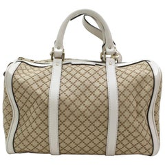 Gucci Boston Diamante Web Medium Joy W/ Long Strap 867408 Beige Canvas Satchel