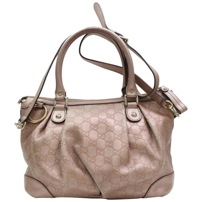 fad241d303be Gucci Sukey Guccissima 2way 867426 Pink Leather Shoulder Bag For Sale