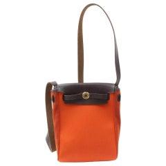 Hermès Herbag Toile Mini Pm 869488 Orange Canvas Cross Body Bag