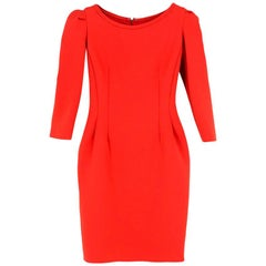 Lanvin Red Fitted Dress US 4