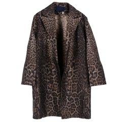 Lanvin Oversized Leopard Print Coat US 4