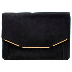 Lanvin Black Pony-hair Clutch Bag