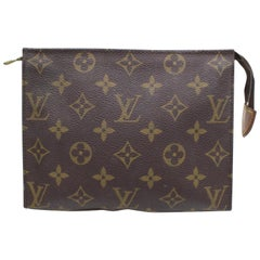 Louis Vuitton Brown Poche Monogram Toiletry Pouch 19 Toilette 868136 Cosmetic Ba