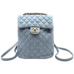 Chanel Matrasse Coco Mark denim backpack