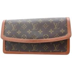 Louis Vuitton Pochette Monogram Dame Pm 867428 Brown Coated Canvas Clutch