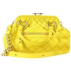 Marc Jacobs Quilted Stam 140mja1025 Yellow Shoulder Bag
