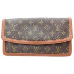 Louis Vuitton Pochette Monogram Dame Pm Envelope 869597 Brown Coated Canvas Clut