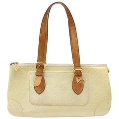 Louis Vuitton Rosewood Perle Monogram Vernis Avenue 869534 Ivory Patent Leather