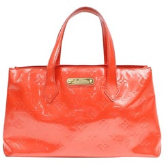 Louis Vuitton Wilshire Monogram Vernis Pm 869517 Red Patent Leather Tote