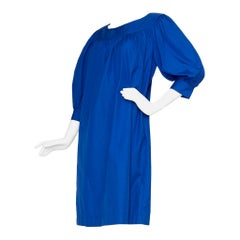 1980s Yves Saint Laurent Blue Tent Dress