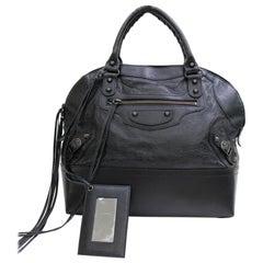 Balenciaga (Ultra Rare) City Tote 867395 Black Leather Weekend/Travel Bag