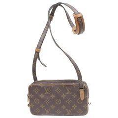 435e831fdda8 Louis Vuitton Pochette Marly Monogram Bandouliere 869351 Brown Coated  Canvas Cro