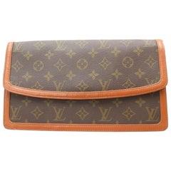 Louis Vuitton Pochette Monogram Dame Gm Envelope 869360 Brown Coated Canvas Clut