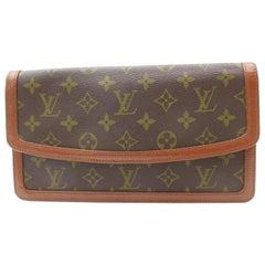 Louis Vuitton Pochette Monogram Dame Pm Envelope 869366 Brown Coated Canvas Clut