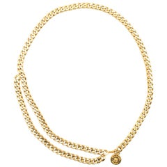 Chanel Vintage 1994 Gold-plated Chain Belt/Necklace