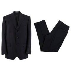 Corneliani Black Wool Two Piece Suit XL