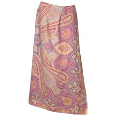 Etro Wool and Silk Wrap Over Skirt