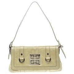 Givenchy Light Green Leather Shoulder Bag