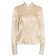 Ralph Lauren Beige Cotton and Silk Tailored Jacket L