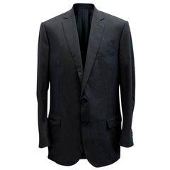 Ermenegildo Zegna Men's Blue Check Blazer XXL