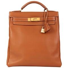 1999 Hermès Brown Swift Leather Vintage Kelly Ado Backpack