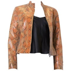 Vintage Tan and Black Snakeskin Jacket