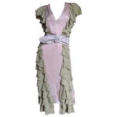 Stella McCartney Silk Dress with Ruffles