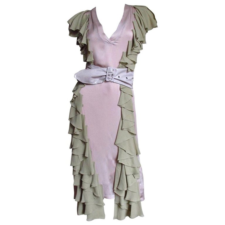 0c3584c9d9c Stella McCartney Silk Dress with Ruffles For Sale at 1stdibs