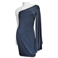 Antonio Berardi Silk Drape One Sleeve Dress