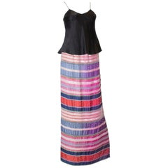 Girogio Armani Silk Beaded Skirt