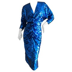 Oleg Cassini 1970's Sequin Disco Era Dress Sz 8 Deadstock New with Tags