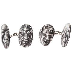 Etienne David Grotesque Mask Cufflinks