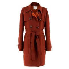 Celine Burgundy Wool Coat US 8