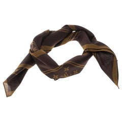 Louis Vuitton x Supreme Brown Monogram Printed Cotton Bandana Scarf