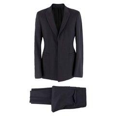 Prada Men's Grey Pinstripe Suit M