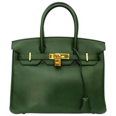 Hermes Birkin 30 Swift Green Leather