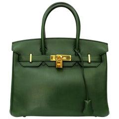 Hermes Birkin 30 Swift Green Leather