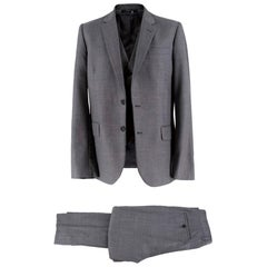 29d22968e85 Paul Smith Soho-fit grey three-piece wool suit XL