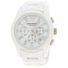 Emporio Armani White Ceramic AR1403 Men's Wristwatch 42MM