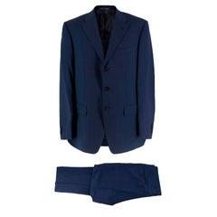 Corneliani Navy Blue Wool Suit L