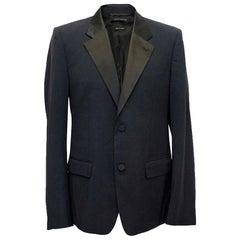 Marc jacobs Navy and Black Satin Tuxedo Jacket M