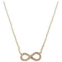 Tiffany & Co. Infinity Diamond 18k Rose Gold Chain Necklace